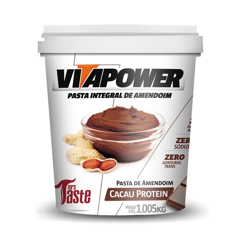 Pasta de Amendoim Integral (1.005kg) VitaPower - 30% OFF