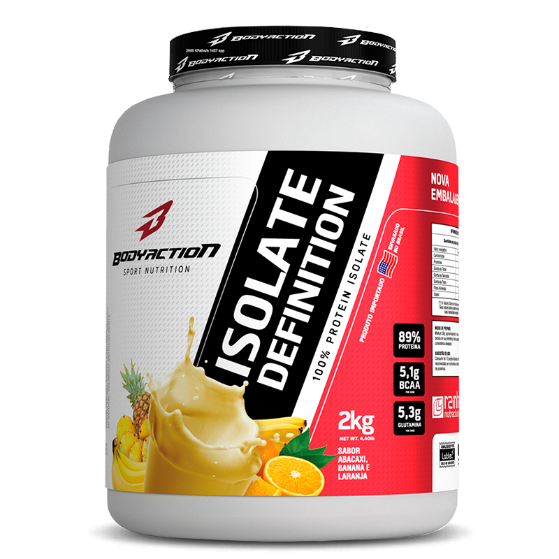 Isolate Definition (2kg) BodyAction-Frutas Amarelas - 50% OFF