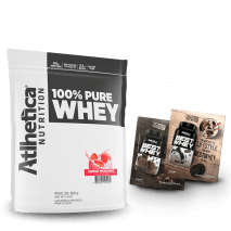 100% Pure Whey (850g) Atlhetica Nutrition + 2 Doses Best Whey Grátis