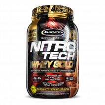 Nitro Tech 100% Whey Gold (999g) MuscleTech-Chocolate Caramel Brownie (1016g)
