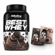 Best Whey (450g) Atlhetica Nutrition + 2 Amostras Best Whey Grátis