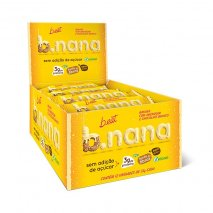 B.nana Amendoim com Chocolate Branco Display (12x35g) B-Eat