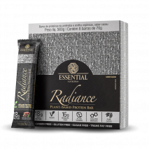 Radiance Vegan Protein Bar (8unid-70g) Essential Nutrition-Cacao + Nibs +Chocolate - 30% OFF