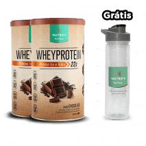 Whey Protein (2x 450g) Nutrify + Water Bottle com Infusor Grátis