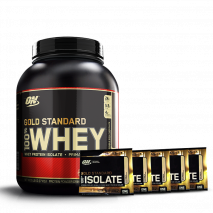 100% Whey Protein (5lb/2270g) Optimum Nutrition + 5 Amostras Whey Isolate