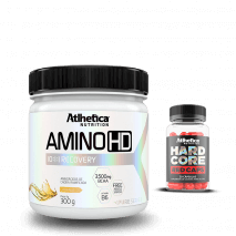 Amino HD 10:1:1 (300g) Atlhetica Nutrition + Hardcore Red Caps