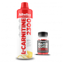 L-Carnitine 2300 (960ml) Atlhetica Nutrition + Hardcore Red Caps Grátis