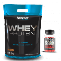 Whey Protein Pro Series (1800g-Refil) Atlhetica Nutrition + Hardcore Red Caps Grátis