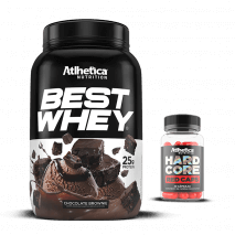 Best Whey (900g) Atlhetica Nutrition + Hardcore Red Caps Grátis