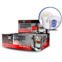 Command Whey Bar (12unid-45g) Military Trail + Camiseta Grátis