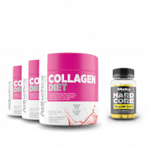 Combo Collagen Diet (3x200g) Atlhetica Nutrition + Hardcore Yellow Grátis
