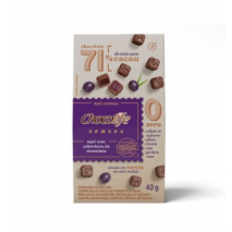 Drageado Açaí com Cobertura de Chocolife Senses 71% Cacau (40g) Chocolife - 60% OFF