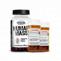 Human Mass (60caps) + Alpha-Axcell (2x30caps) Power Supplements