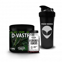 D-Vaster (300g) + Human Mass (60caps) Power Supplements + Coqueteleira Grátis