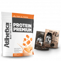 Protein Premium (850g) Atlhetica Nutrition + 2 Doses Best Whey Grátis
