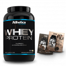 Whey Protein Pro Series (1000g) Atlhetica Nutrition + 2 Amostras Best Whey Grátis