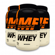Whey 100% Concentrado (3x900g) MuscleFull