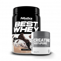 Best Whey (450g) + Creatina 100% Pure (100g) Atlhetica Nutrition
