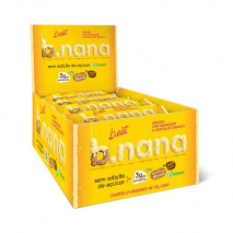 B.nana Amendoim com Chocolate Branco Display (12unid-35g) B-Eat