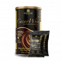 Cacao Whey (900g) Essential Nutrition + Radiance Bites Protein Bar (2x23g) Essential Nutrition Grátis