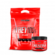 Whey 100% Pure (Refil-907g) + Creatina Hardcore Reload (150g) IntegralMedica