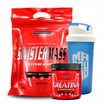Sinister Mass (3000g) + Creatina Hardcore Reload (300g) IntegralMedica