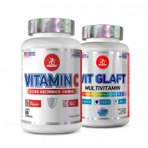 Vit Glaft (90tabs) + 	Vitamina C (1000mg-60caps) Midway USA
