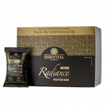 Radiance Bites Protein Bar (15unid-23g) Essential Nutrition