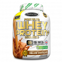 100% Whey Protein + Isolate Premium (1360g) Muscletech-Deluxe Chocolate - 50% OFF