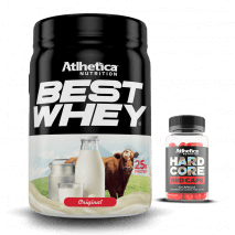 Best Whey Original (900g) Atlhetica Nutrition + Hardcore Red Caps