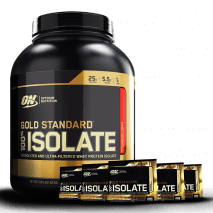100% Whey Gold Isolate (2.91lbs/1320g) Optimum Nutrition + 5 Amostras Whey Isolate